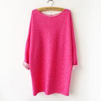 Free shipping+ 2014 spring female fashion loose medium-long long-sleeve sweatshirt roll-up hem one-piece dress op
