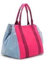 2014 hot sale women handbag big canvas shoulder bag neon stripe bags for women candy color wholesale free shipping