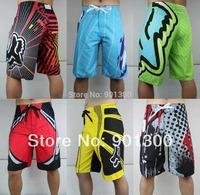 Brand new green yellow fox mens board shorts men's surf boardshorts male beachwear beach short swim trucks size 30 32 34 36 38