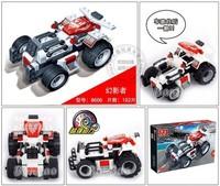 Christmas Gift 8606 BanBao Brand Racing Car Blocks Pull Back Racing Car High Quality Free Shipping