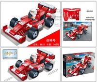 2014 New 8611 BanBao Building blocks Warrior Car Block Educational DIY Toys Cheap pull Back Car Building Block Free Shipping