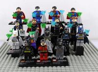 New Collector's Edition 16 PCS/Lot Superman Figures Vs Batman Figures Educatonal Building Block Super Heroes Toy