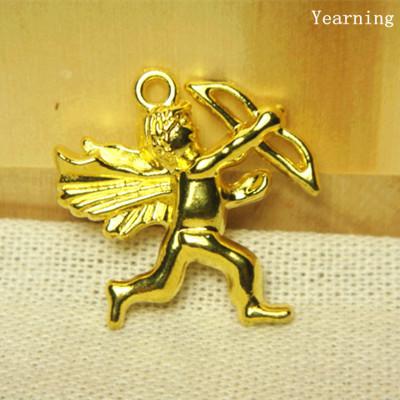 Yearning Accessories Zinc Alloy Gold Eros Cupid Charms Pendants Fit Bracelet Necklace 25 27 50pcs lot