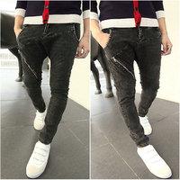 free shipping men  fashion   black taper harem jeans men skinny jeans boot cut jeans