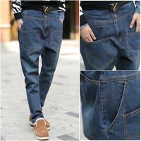free shipping   casual men skinny jeans men big crotch pants  men harem pants  Retail