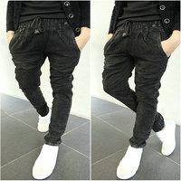 free shipping  new arrival men thickening black jeans   men harem pants slim men skinny jeans  Retail