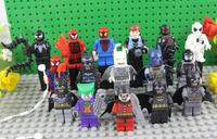 New Arrival Super Heroes Figures Toys 16pcs/lot Spiderman Vs Batman Action Figure Classical Toys Educational Block Bricks