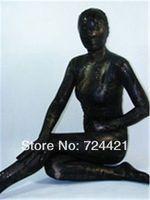 Details about  Sexy Lycra Zentai spandex Unisex suit Metallic Black,Very lowest price!!!