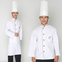 10sets [Hat-top-apron]   after polyester cotton work wear flat yarn stripe card embroidered  chefs coverall free ship