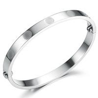 rings eternal classic titanium steel screws silver plated bangle bracelet for women GH661