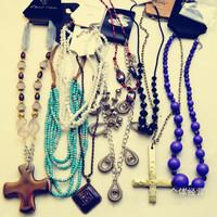 50% Off Hot Sale!10pcs/lot  Women Jewelry Fashion Necklaces Sweater Chain#NE004