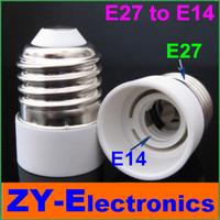 10pcs E27 to E14Light Lamp Bulbs Adapter Converter NEW LED Halogen Light Bulb E27 to E14 Lamp Adapter lamp holder&Free Shipping