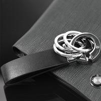 Free Shipping Fashion Jewelry     Multifunctional male genuine leather women's car keychain key wallet key ring