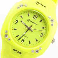 free shipping Famory luminous quartz watch ultra-thin fashionable casual girl women's waterproof watches