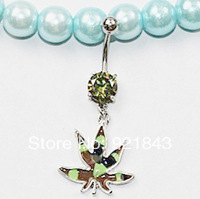 Mixed color wholesale dangle ring crystal navel belly button ring 12pcs/lot free shipping