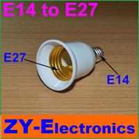 10pcs E14to E27Light Lamp Bulbs Adapter Converter NEW LED Halogen Light Bulb E14 to E27 Lamp Adapter lamp holder&Free Shipping