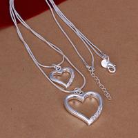 Fashion Woman Beautiful High Quality Silver Jewelry Beads Pendant Necklace Free Shipping
