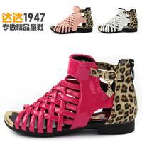 Children shoes child sandals 2014 summer female child sandals princess shoes genuine leather female child sandals