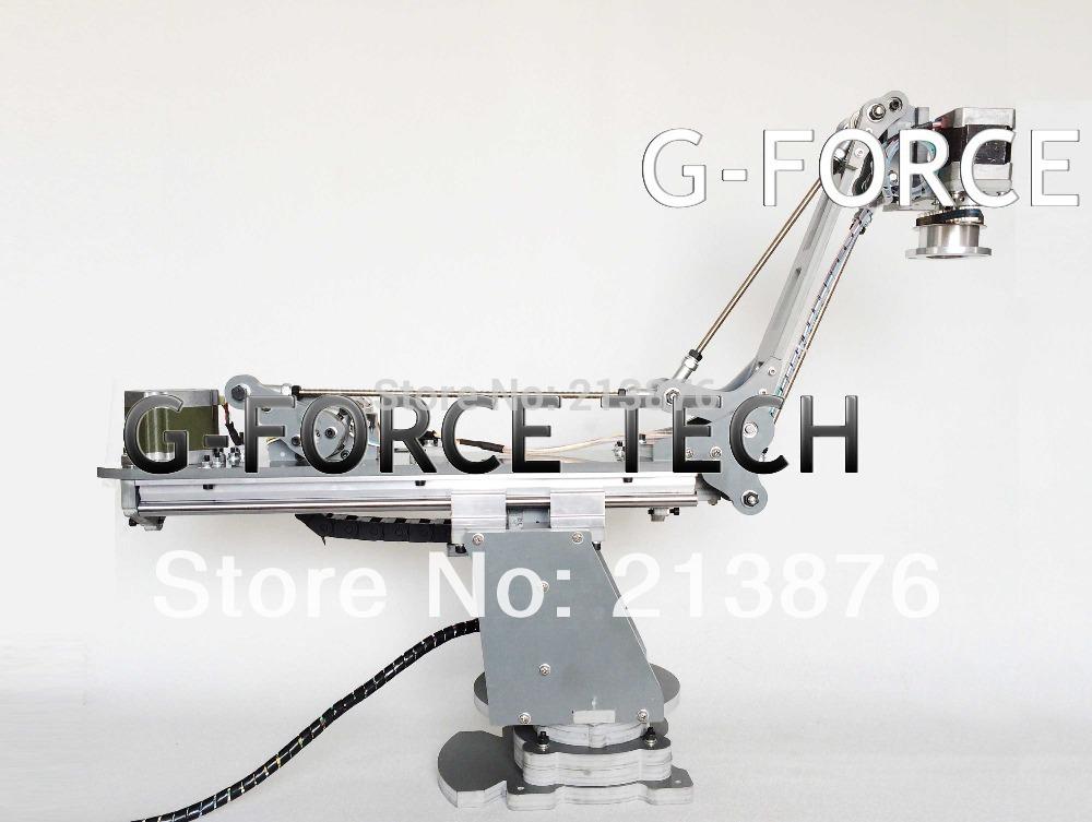 PLC control 4 axles CNC robot arm arduino servos(China (Mainland))