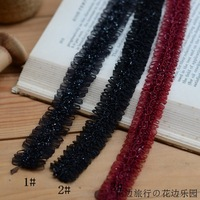 Doll laciness accessories diy black bordeaux belt light ribbon lace decoration