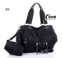 Free Shipping Nylon bag canvas bag 2014 women's handbag portable one shoulder cross-body sports casual big bag