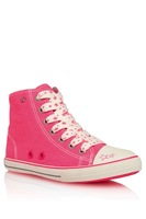 Next female child 3 - 16 high lacing pink star fashion canvas baseball shoes