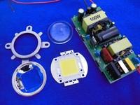 100W Cold White/Warm White LED High Power Light Lamp Chip + 100W Power Driver Supply AC 85V~265V+44mm Lens Reflector Bracket