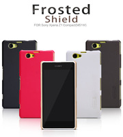 Nillkin Super Frosted Shell  for sony xperia z1 compact M51W, protective case for  sony xperia z1 mini M51W+1pcs high clear film