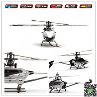 2.4G 3CH RC Remote Control Helicopter with Gyro New RC Aircraft Searching Light Outdoor Fun&Spots Black