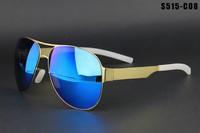 2014 fashion frog mirror sunglasses men & women glasses Brand Designer Vintage Unisex free shipping