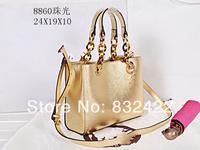 Hot sale new arrival Gold color women's designer Handbags famous brand leather women fashion shoulder bag High quality 88617
