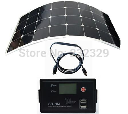 Promotion sunpower flexible solar panel 100W 12V 24V Aoto solar controller and LED Driver