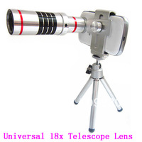 1 pcs,18x Degree optical zoom Telescope lens camera for Samsung Galaxy Note 2,with tripod / case,Christmas Gift
