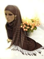 Muslim headscarf LIDS Hui supplies Fashion mercerized cotton scarf joker tassel classic thin towel