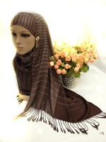Muslim headscarf LIDS Hui supplies Fashion mercerized cotton scarf joker tassel classic thin towel