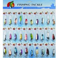 Lure fishing lure n30 7g metal spoon paillette fishing tackle 30 set weest blackfish