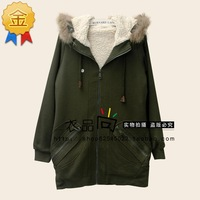 La CHAPELLE winter thickening berber fleece detachable cap sweatshirt 20002778 female