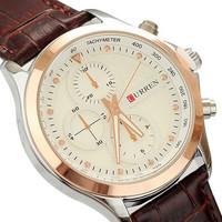 2014 New Hot Sale Men Sports Watches Leather Strap Watch Luxury Brand Curren 8138 Military Quartz Wristwatches Fashion Casual