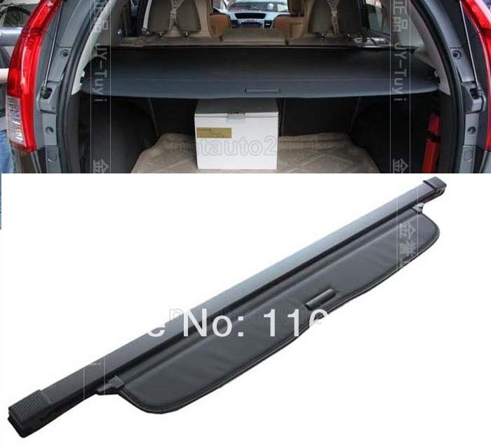 For HONDA CRV CR-V 2012 2013 2014+ Aluminum + Canvas Black Rear cargo
