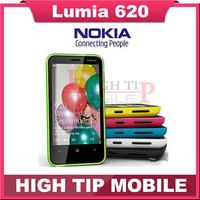 "Lumia 620 Unlocked Original Nokia 620 Windows Mobile Phone 3.8"" Dual-core ROM 8GB Camera 5MP Wifi GPS  Refurbished Freeshipping"