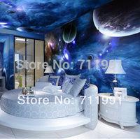 Free shipping custom ceiling cosmic Nebula Star Hotel KTV wallpaper background wallpaper mural wallpaper 3D Fantasy