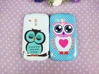 1 x Branch Tree Big Eye OWL TPU Back Case for Samsung Galaxy SIII S3 Mini i8190