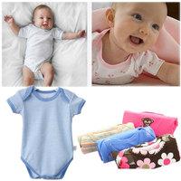 Hot!!5Pcs/Lot Fashion Baby Clothing Character Bodysuits & One-Pieces Cartoon Unisex O-Neck Knitted Short Infant Bodysuit