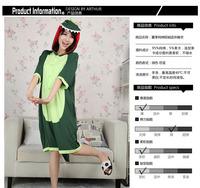 Free shipping Cartoon dinosaur kigurumi animals pajamas  COSPLAY Costume  for adult  summer short-sleeve one piece sleepwear