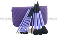 Rosalind Free Shipping 11 Pcs/Set Purple Makeup Brushes New Arrival High Quality 9pcs Purple Makeup Brush Set
