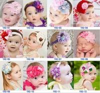 Girls Lace Satin Headband Baby Flowers Hairband Photography Prop