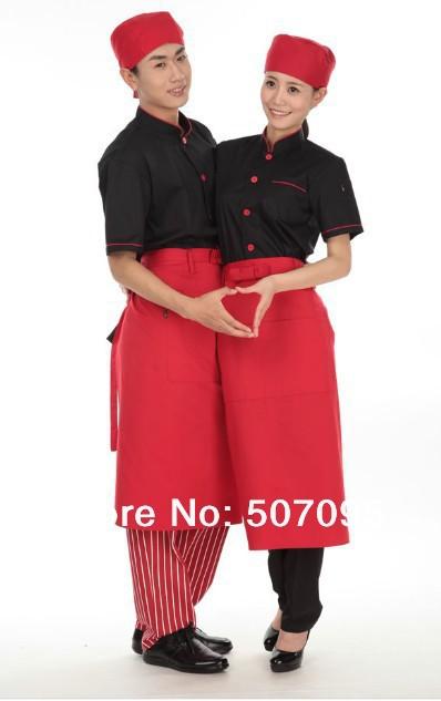 Free shipping unisex restaurant jacket coat cotton chef cooking jacket hotel uniform(China (Mainland))