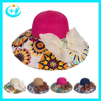 New 2014 women hats summer girls sun hats beach hat for women large brimmed sum hats