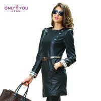2014 winter long-sleeve o-neck zipper handsome female one-piece dress