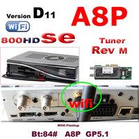 2014  new arrival  Rev D11 DM 800se hd a8p wifi  digital satellite receiver sunray 800se a8p wifi Ex USB Rev M tuner